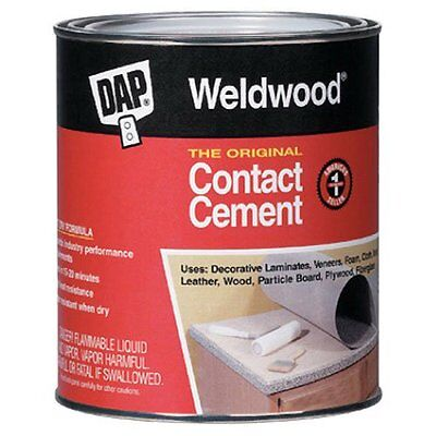 Contact Cement - NEW DAP WELDWOOD 00271 PINT ORIGINAL BRUSH CONTACT CEMENT GLUE ADHESIVE 3433208