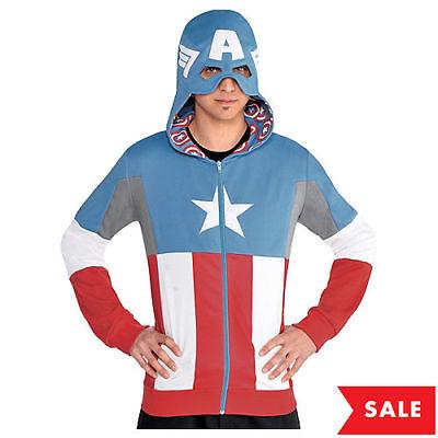 Avengers Civil War Captain America Costume Hoodie Marvel - Captain America Kostüm Hoodie
