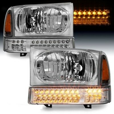 TIFFIN ZEPHYR 2000 2001 2002 CLEAR HEADLIGHTS HEAD LAMPS LED SIGNAL LIGHT SET RV