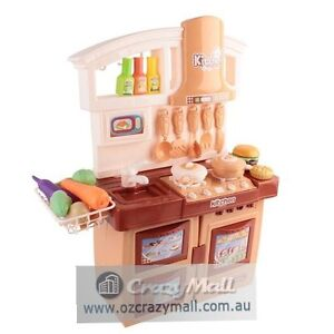 27pcs Kids Kitchen Play Set Play with Lights and Sound Melbourne CBD Melbourne City Preview