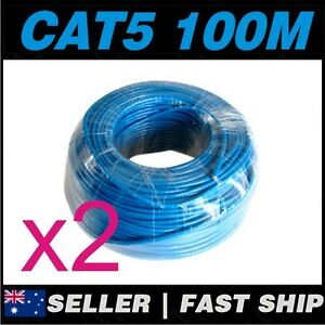 2x-100m-Cat-5-5E-Cat5-Cat5E-Blue-Ethernet-Network-LAN-Patch-Cable-Lead