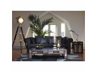 ONLY £395 - Black Chesterfield Sofa - MUST GO