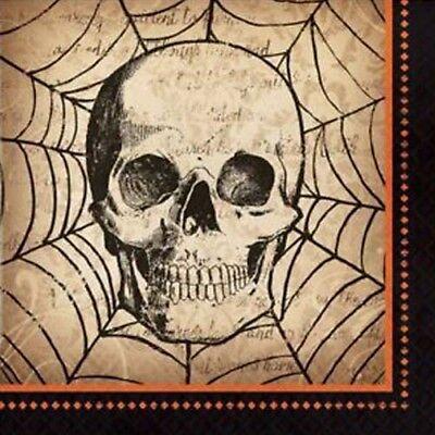 HALLOWEEN Spooky Symbols LUNCH NAPKINS (16) ~ Birthday Party Supplies Skull (Halloween Lunch)