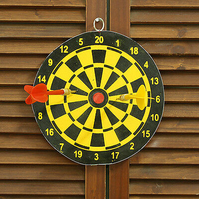 New Mini Both Sides Dart Board Pin Set Kids Toy Play Indoor Sports Camping Game