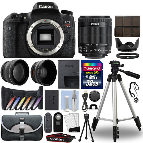Canon T6s / 760D DSLR Camera + 18-55mm IS STM 3 Lens Kit + 32GB Best Value Kit