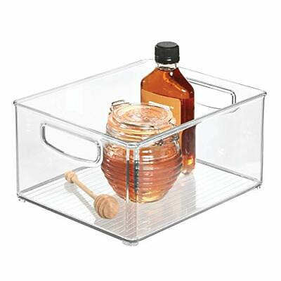iDesign Stackable Storage Box with Handles, Large and Deep Plastic Fridge Box