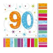 90th Birthday Napkins