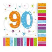 90th Birthday Napkins