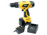Draper 14.4 V cordless drill with charger forward & reverse function, like new