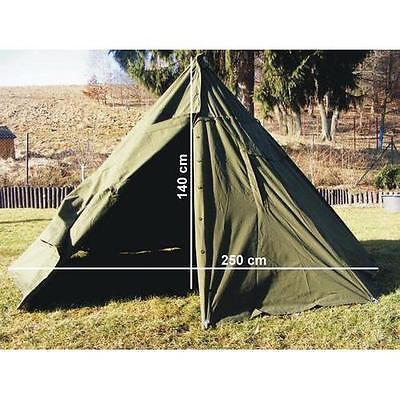 Zelt Polnisches Armeezelt Bushcreaft tent Militär 2-Mann-Zelt oliv Kinderzelt