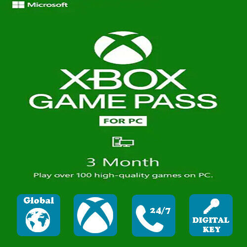 XBOX GAME PASS FOR PC 3 MONTHS TRIAL US,CA FR valid until 11/30/21 (New Account)
