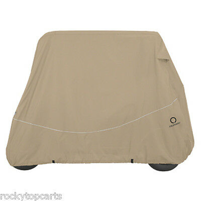 Classic Accessories 4 Passenger Universal Golf Cart Storage Cover For Short Tops