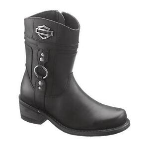 Cool Harley Davidson Jessa Black Leather Cowgirl Western Cowboy Womenu0026#39;s Size 8 Gray Boots On Sale 28 ...