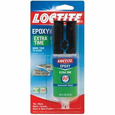 Loctite Extra Time Epoxy Metal Glass Ceramic Amber Carded 0.85 Fl.oz