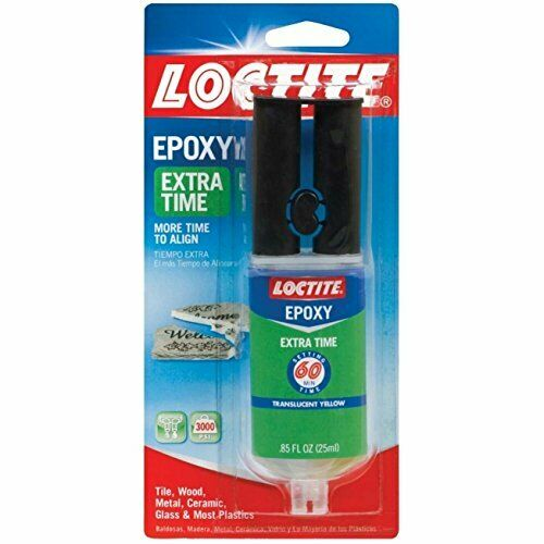 Loctite Extra Time Epoxy Metal, Glass, Ceramic Amber Carded 0.85 Fl.Oz