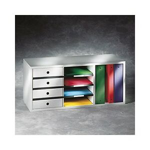 New Fellows Office Organizer for Binders w/4 Sorters & 4 Drawers
