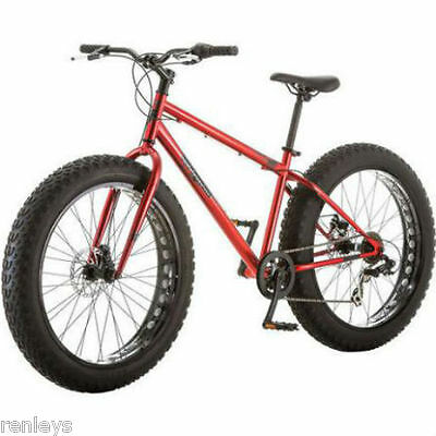 "NEW 26"" Mongoose Hitch Fat Tire Men's 7-speed Mountain Bike Bicycle Red"