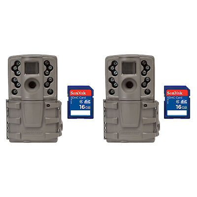 Moultrie A20 12MP Infrared Mini Hunting Trail Camera, 2 Pack