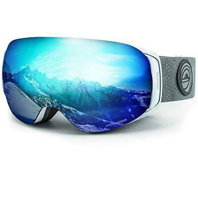 WildHorn Outfitters Roca Junior Ski/Snowboard Goggles Arctic White/Ice Blue Junior Ski Goggle