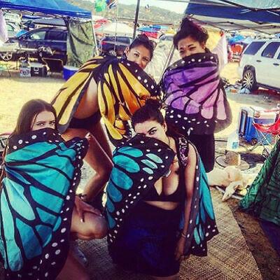 Mädchen Schmetterlingsflügel Strandtuch Frauen Kostüm Accessoire Schal - Frauen Schmetterlings Kostüm