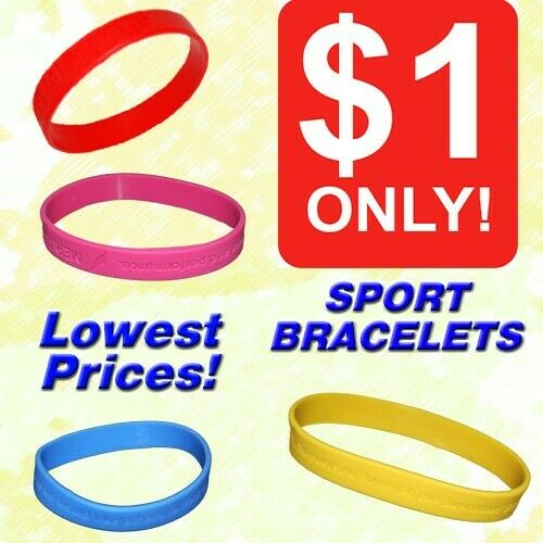 Sports Bracelets (Silicon Bangles) **2020 CLEARANCE SALE STOCKS, ALL MUST GO! LOWEST PRICES!**
