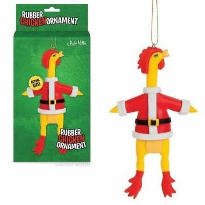 Rubber Chicken Christmas Ornament Accoutrements New In Box Humor Gag Gift Funny
