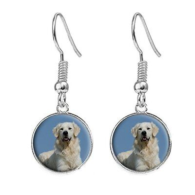 Golden Retriever Silver Plated Costume Jewellery Drop Earrings Birthday Gift - Golden Retriever Costume