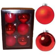 Red Glass Baubles