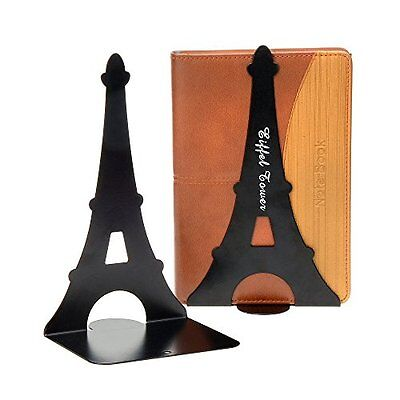 1pair Black Iron Tower Nonskid Bookends Bookend