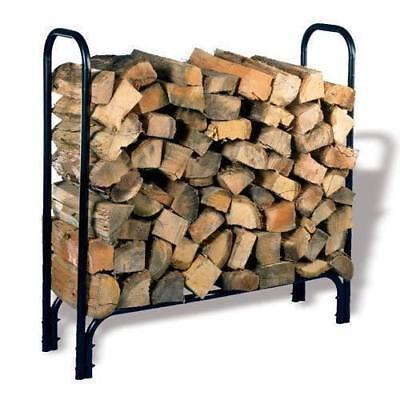 Face Cord Firewood - HY-C COMPANY SLRM Half Face Cord Firewood Storage Log Rack Powder Coated Shelter