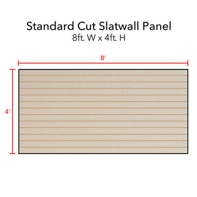 Horizontal Slatwall Panels In Almond 4 H X 8 W Feet - Count Of 2