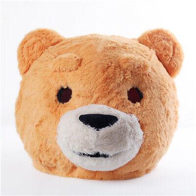 Plush Teddy Bear Head Mask Mascot Costume Halloween Party Dress - Mascot Head