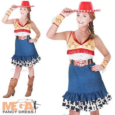 Jessie Adult Toy Story Fancy Dress Womens Disney Ladies Costume + Cowboy Hat - Adult Jessie Hat