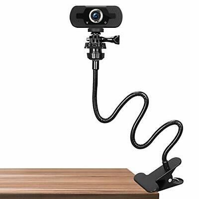 Webcam Stand Flexible Desk Table Mount Clamp Gooseneck 25 Inch With 1/4 Adapter