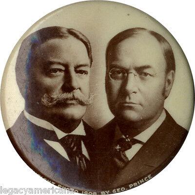 1908 William H. Taft James S. Sherman Jugate Campaign Button (4566)