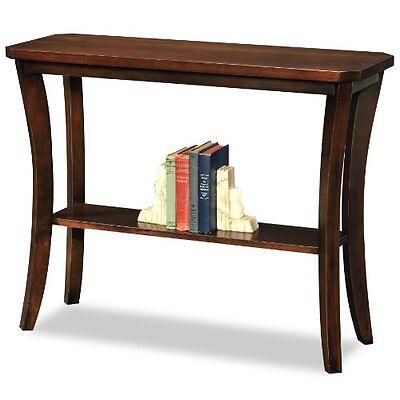 تربيزه جديد Leick Furniture 10332 Boa Collection Solid wood Hall Console Table