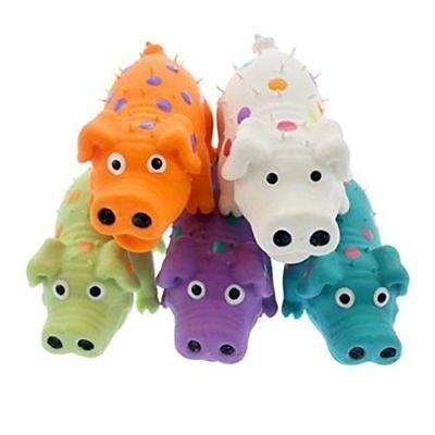 "Multipet Latex Polka Dot Globlet Pig Dog Toy, Color Varies 4"" free Shipping"