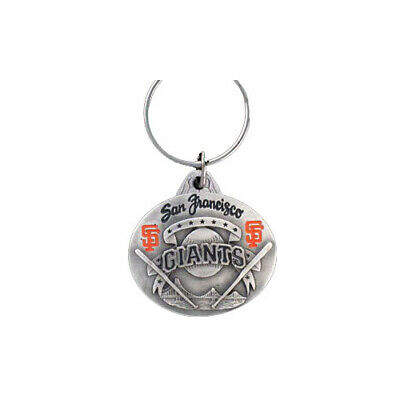 San Francisco Giants Oval Pewter Keychain MLB New San Francisco Giants Keychain