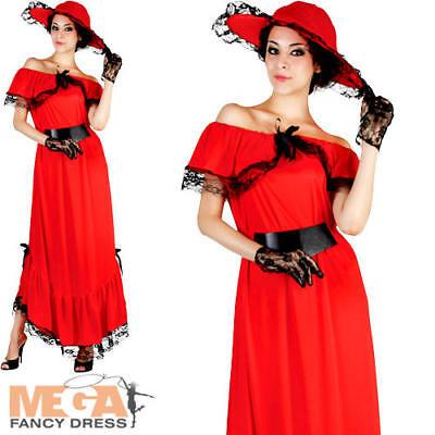 Scarlett O'Hara Ladies Fancy Dress Gone With the Wind Western Adults Costume ](Scarlett O Hara Costume)