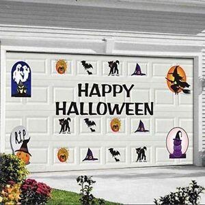 30pc Halloween Garage Door Magnets Decal Set Decorations