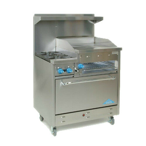 "Comstock Castle F330-24b 36"" Gas Restaurant Range With Griddle/broiler"