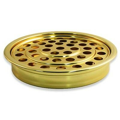 Brass Tone Communion Tray (BRAND NEW -COMMUNION CUP TRAY BRASSTONE Permanent Polish Finish Stainless)