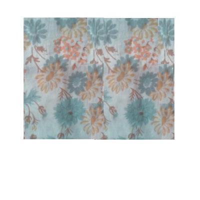 Daisy Floral Fabric Pastel Print on Cream 20