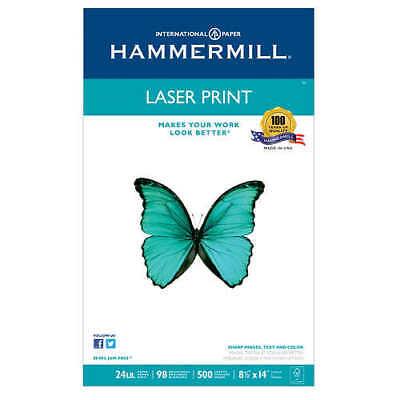 Hammermill Laser Print Paper Legal White 24lb 98-bright 500 Sheets