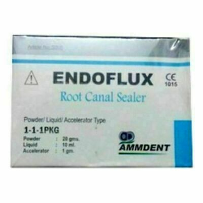 Ammdent Endoflux Root Canal Sealer 20gm Powder 10ml Liquid Dental