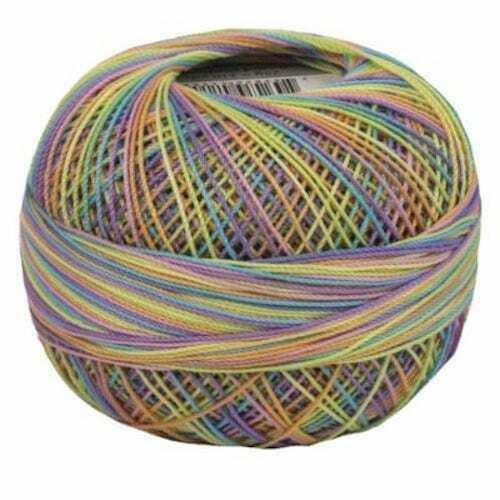 Lizbeth Egyptian Cotton Crochet Thread Size 20 Color 153 Rainbow Taffy