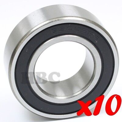 Set of 10 BALL BEARING WJB 6003-2RSNR WITH 2 RUBBER SEALS /& SNAP RING
