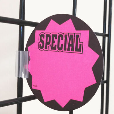 Gridwall Sign Clip For Wire Rack Fixtures - Grid Display Card Holder Grip