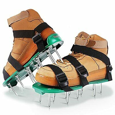 Totebox Lawn Aerator Shoes, With 3 Adjustable Straps Heavy Duty Spiked Aerating