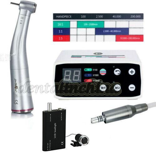 Dental Brushless Electric LED Micro Motor/ 1:5 Handpiece /Medical LED Head Light